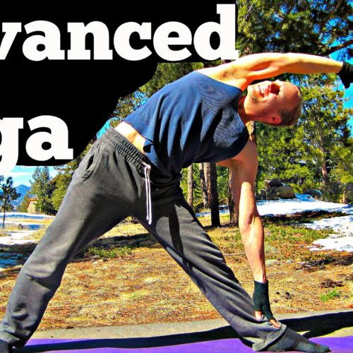 20 Min Yoga for Men Advanced Strength Workout – Killer Power Yoga for Women too! Hot #yogaformen